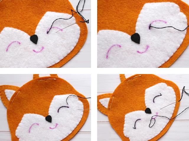 создание игрушки из фетра этап 3